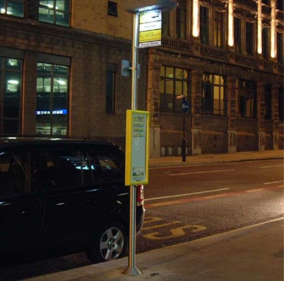 Solar Powered illuminated Bus Timetable Case